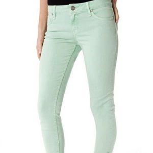 Sanctuary Charmer skinny jeans mint green mid rise